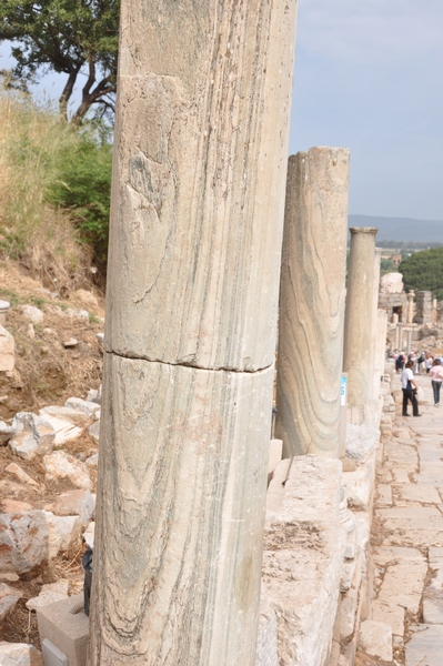 Ephesus, Street of the Curetes, Cipollino columns