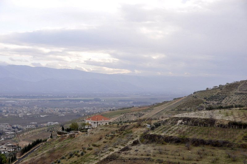 Bekaa valley from Qsarnaba
