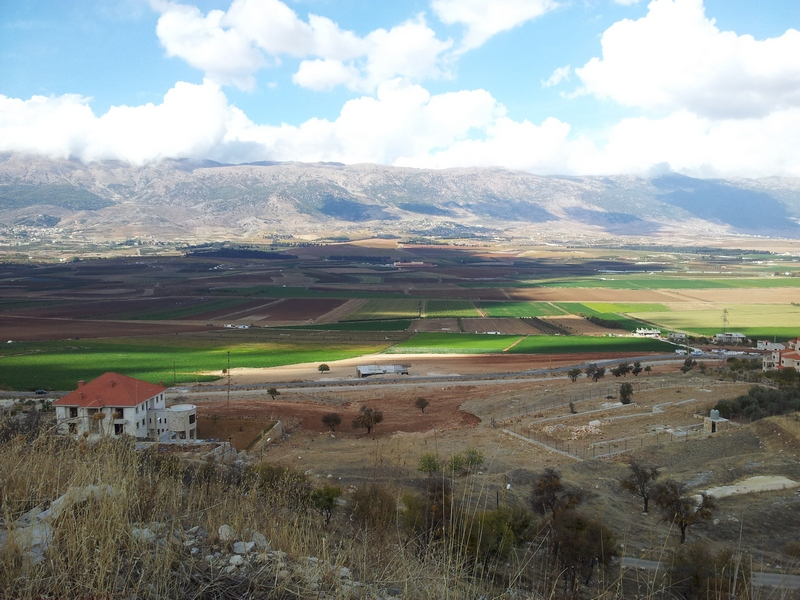 Bekaa valley, south