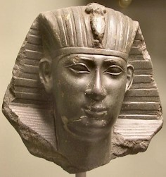 Portrait of a pharaoh of the Saite dynasty