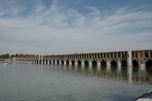 The Zayandeh Rud and Isfahan's famous Si-o-se Bridge