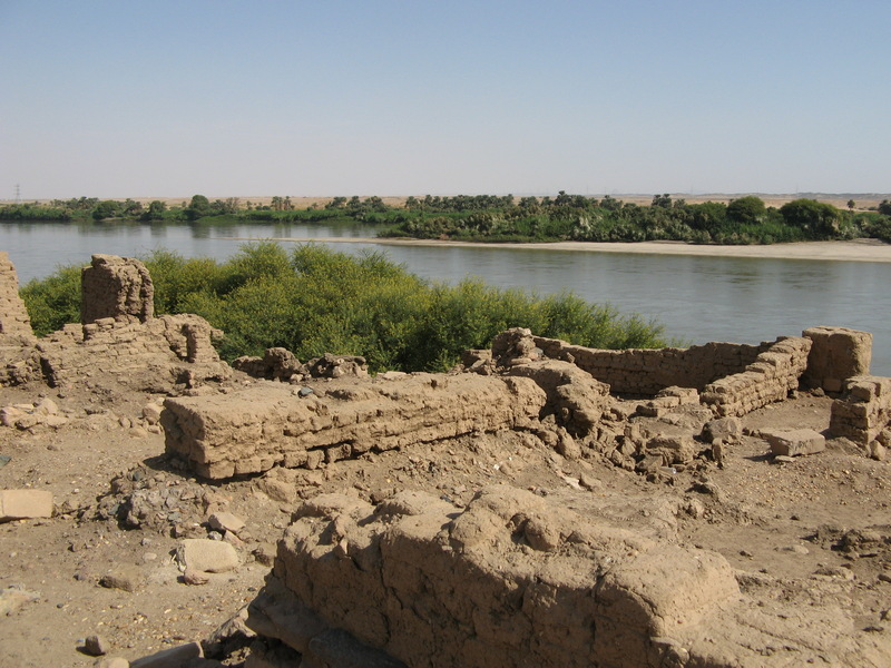Sai Island, View of the Nile with pharaonic town