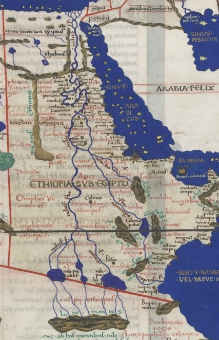 Nile, as shown on the World Map of Ptolemy of Alexandria