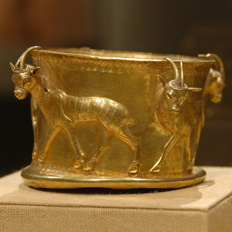 Hyrcanian cup, decorated with gazelles