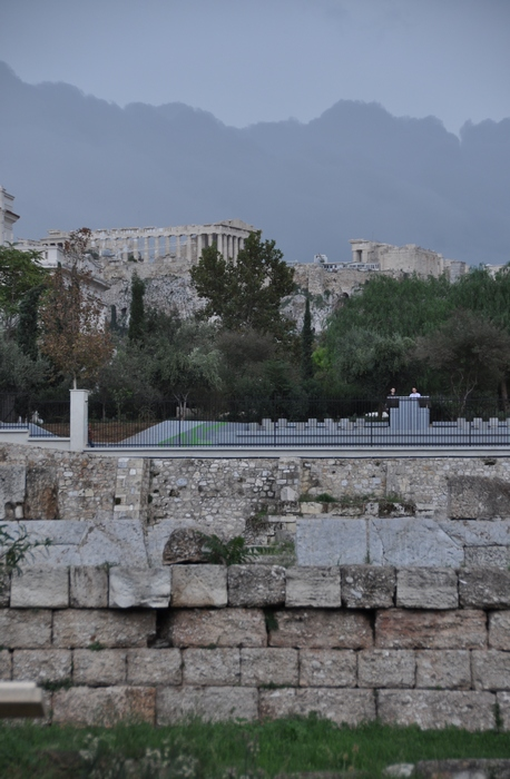 Athens, Kerameikos, Dromos, View of the Acropolis