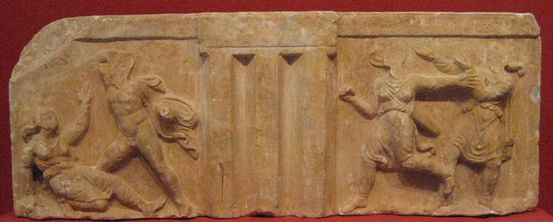 Sparta, Metope with Amazons