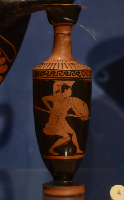 Attica, Red-figured vase with a hoplite