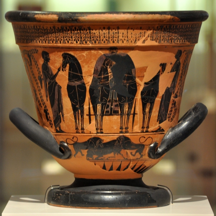 Pharsalus, Krater with a four-horse chariot