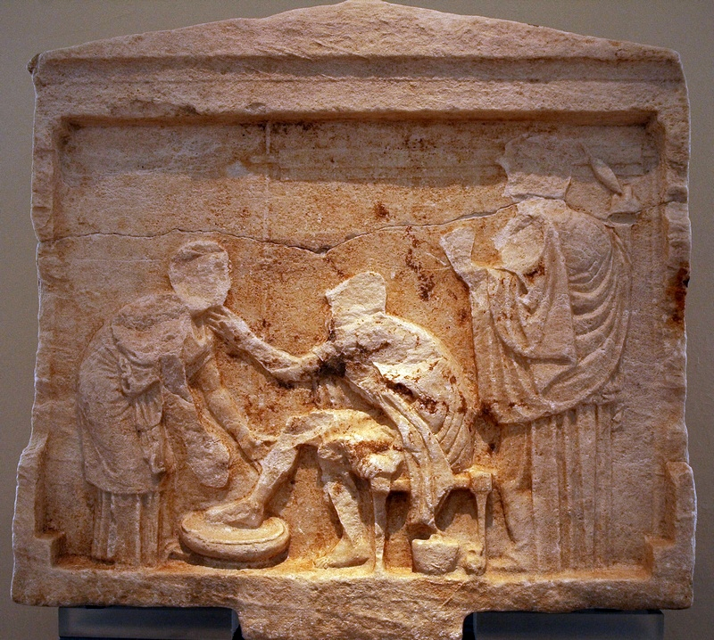 Gomphoi, Relief of Odysseus and Amphicleia