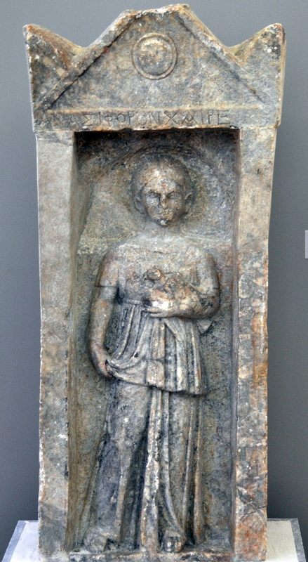 Orchomenos, Tombstone of a Roman girl