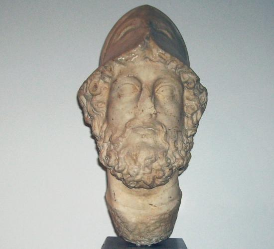 Bust of Mars, found in one of Carmona's tombs