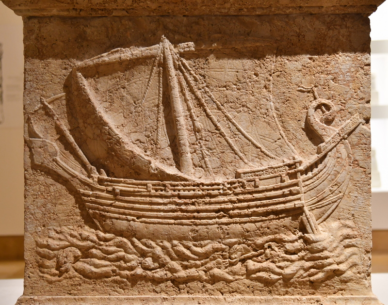 Sidon, Sarcophagus relief of a boat