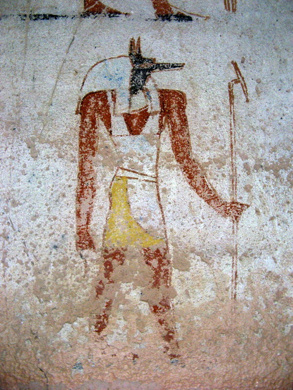 El-Kurru, Tombs, Wall painting of Anubis