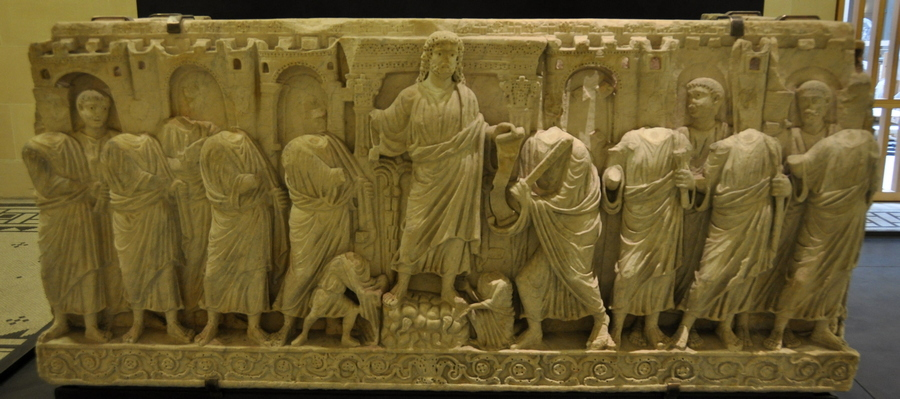 Rome, S. Pietro, Sarcophagus with Christ as Lawgiver