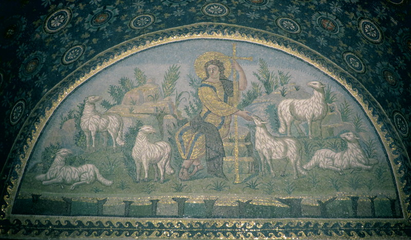 Ravenna, Mausoleum of Galla Placidia, Mosaic of the Good Shepherd