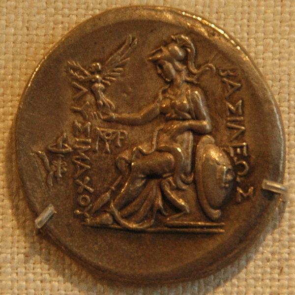 Athena on a coin of Lysimachus