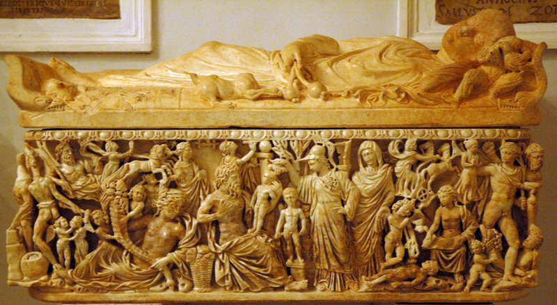 Rome, Sarcophagus with Prometheus and Athena creating the first humans