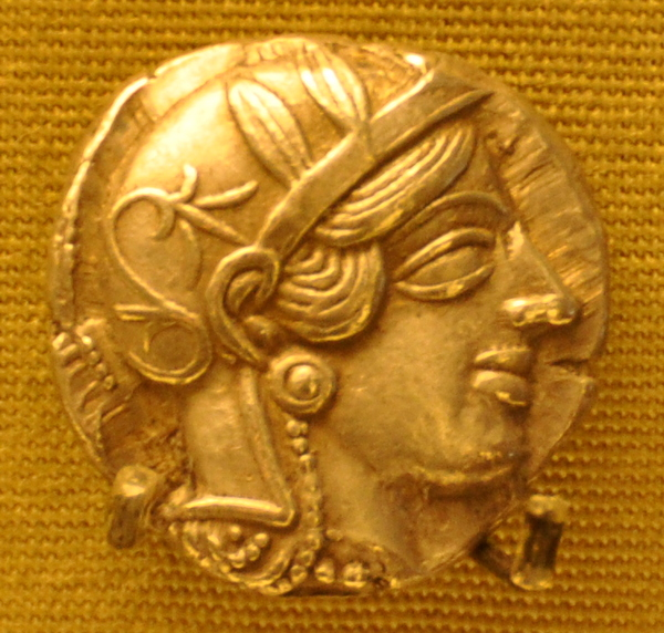 Athens, Coin with portrait of Athena (1)
