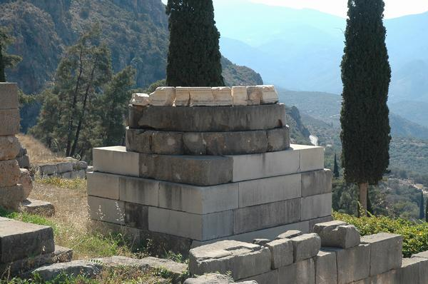 Delphi, Base of the Victory Monument after the Persian War