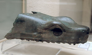 Snake head from the Greek victory monument in Delphi, later brought to Constantinople