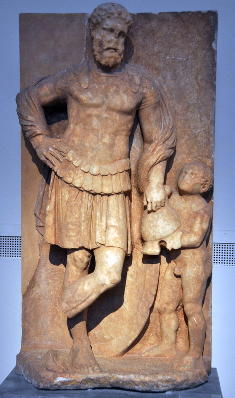 Eleusis, Tombstone of a warrior