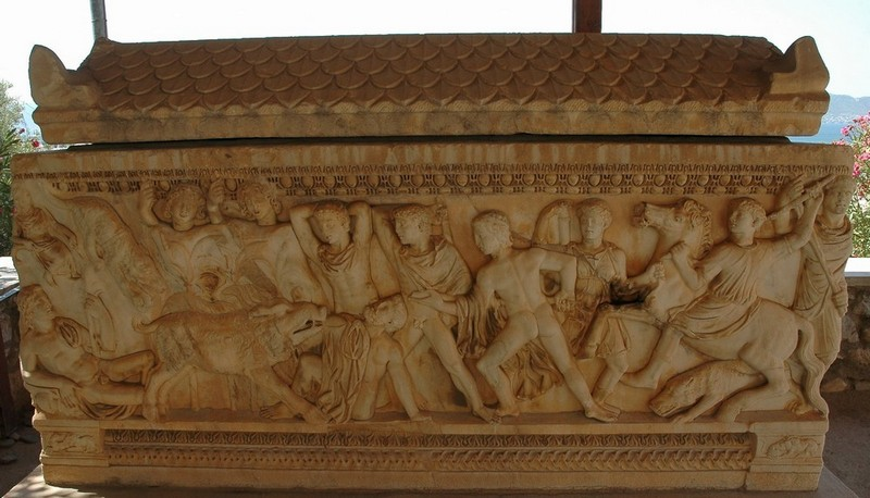 Eleusis, Sarcophagus with the Calydonian Hunt