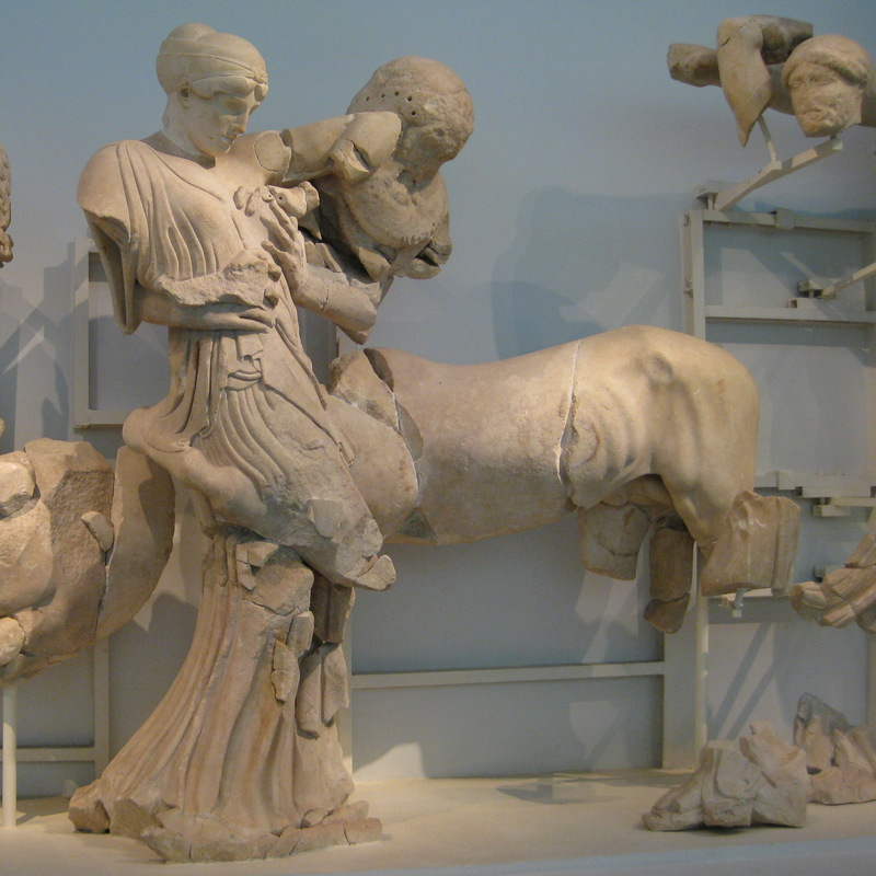 Olympia, Temple of Zeus, West Pediment, Centaurs and Lapiths (1)