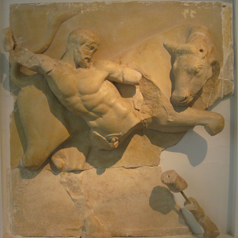 Olympia, Temple of Zeus, Metope of the Bull of Marathon