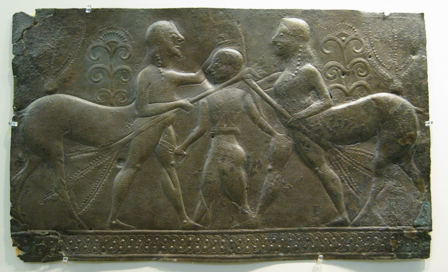 Olympia, Relief with a man fighting two centaurs