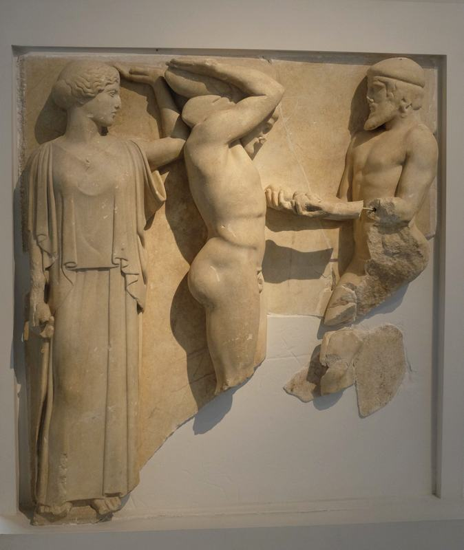 Olympia, Temple of Zeus, Metope of the Heracles and the Apples of the Hesperides