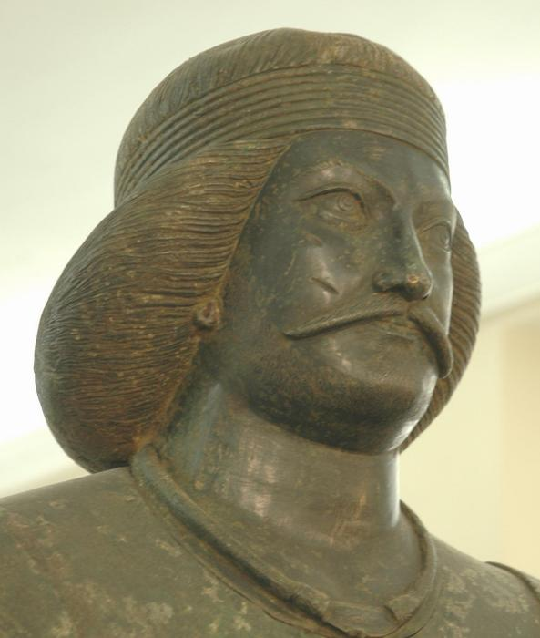 Head of a bronze statue of a Parthian prince, found at Shami, Khuzestan
