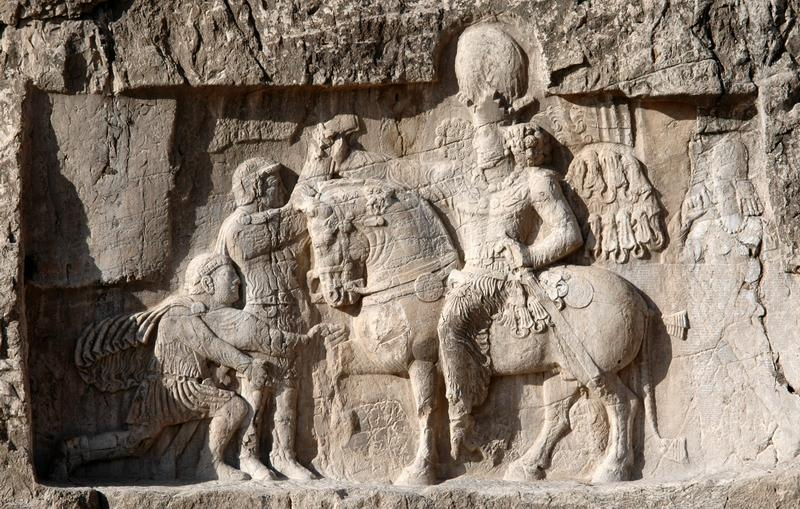 Naqsh-e Rustam, relief of Shapur I