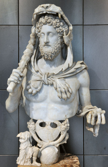 Rome, Horti Lamiani, Commodus as Hercules