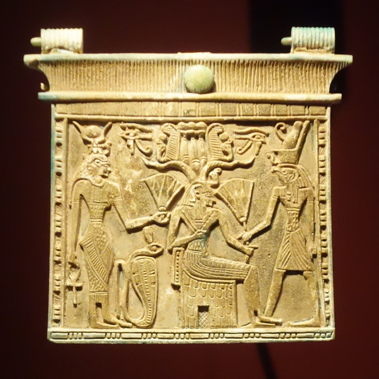 Gebel Barkal, Pectoral with Isis, Amun, and Horus