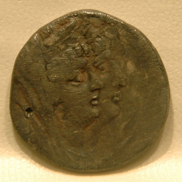 Cleopatra Thea and Antiochus VIII, coin