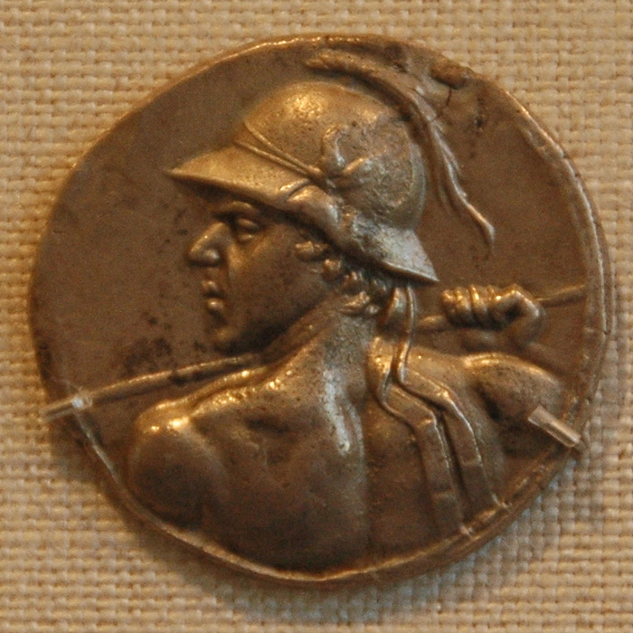 Eucratides I of Bactria, coin (2)