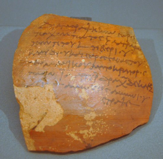 Elephantine, Ostracon recording a census