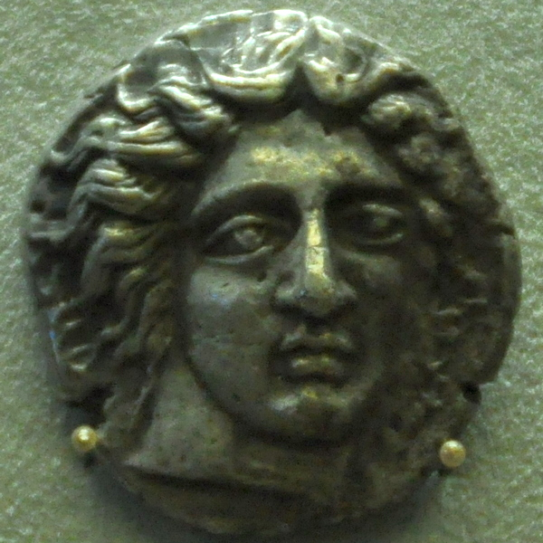 Coin from Rhodes, Helios (408-395 BCE)