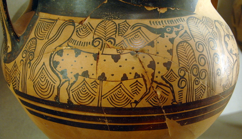 Rhodes, Bull on a Mycenaean jar (LH IIIa2)