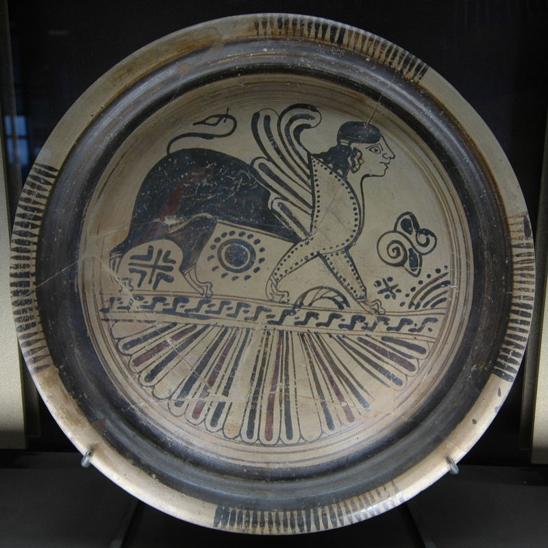 Rhodes, Dish with a sphinx