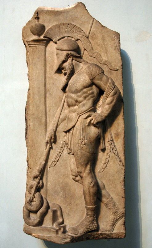 Rhodes, Relief of a soldier (archaizing)