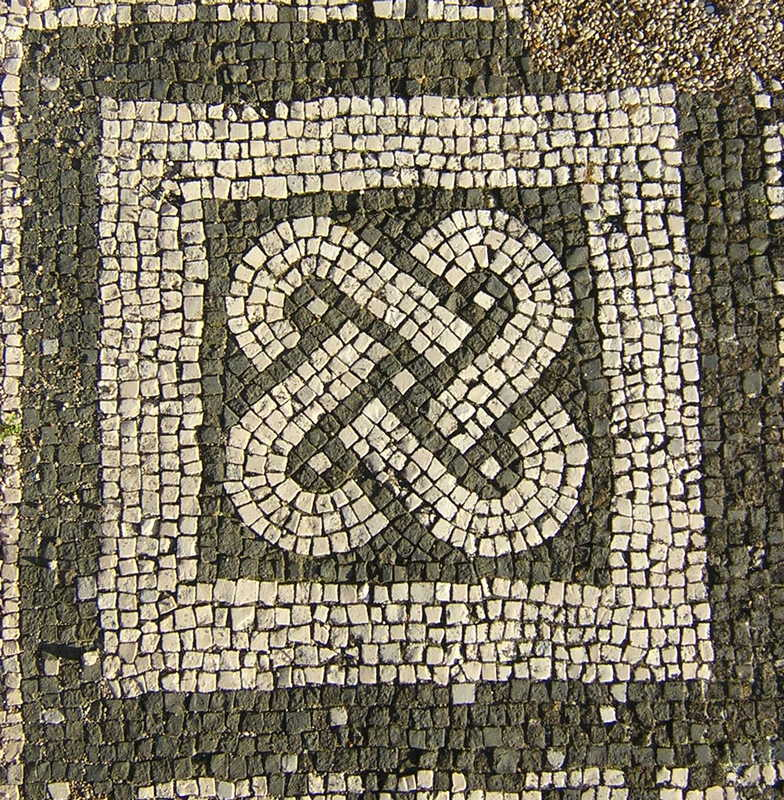 Ostia, Synagogue, Mosaic of Solomon's knot