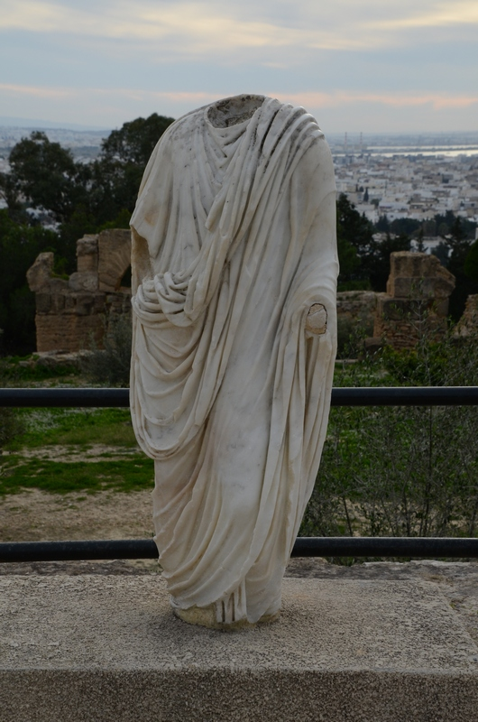 Carthage, Byrsa, Statue of Roman man