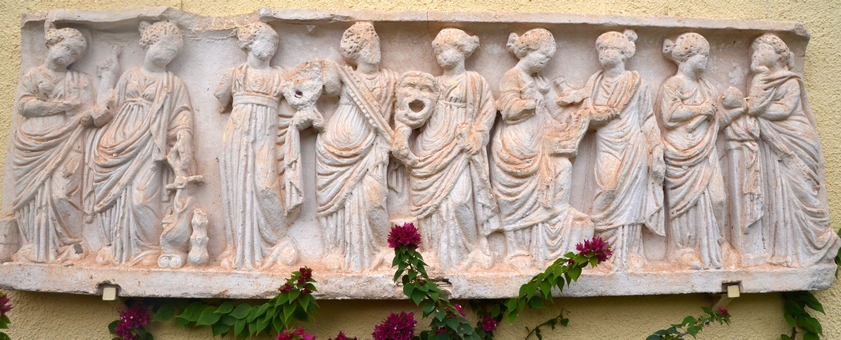 Carthage, Roman Theater, Relief of the Muses