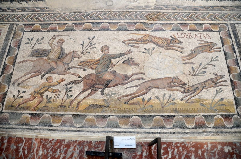 Uthina, House of the Laberii, Mosaic of hunters