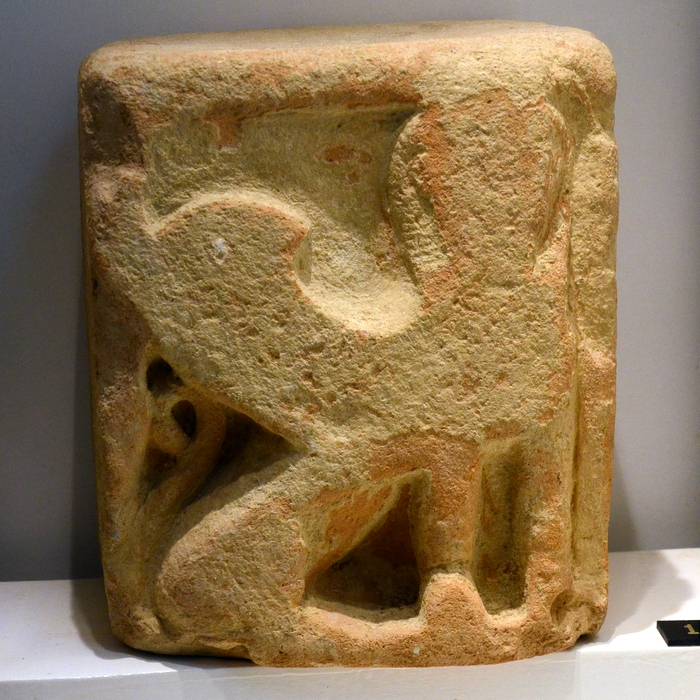 Kerkouane, Punic altar with a sphinx