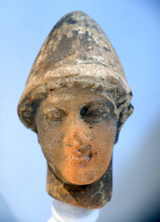 Kerkouane, Head of one of the Dioscuri