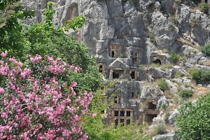 Myra, rock tombs