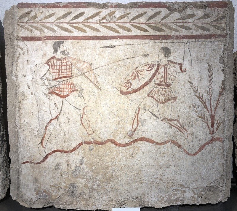 Paestum, Tombs, Painting of a ritual fight