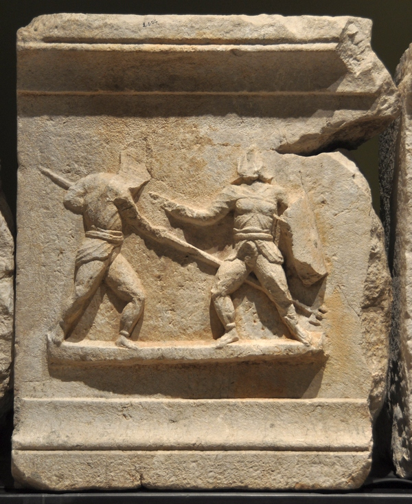 Cibyra, Relief of a retiarius and a secutor
